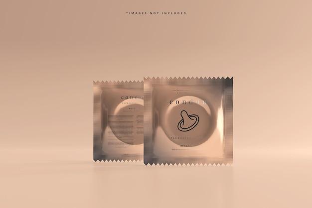 Maquette d'emballage de préservatif