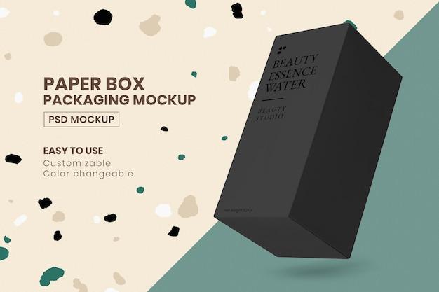 Maquette d'emballage psd avec boîte noire