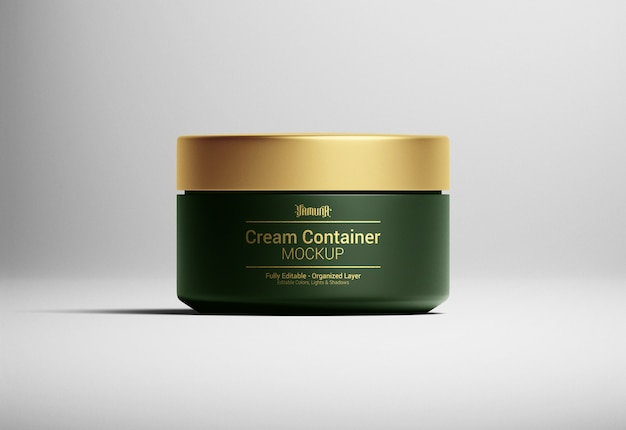 Maquette d'emballage de récipient de crème cosmétique
