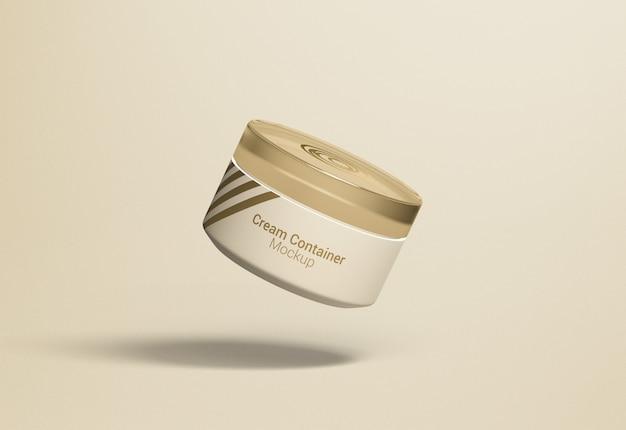 Maquette d'emballage de récipient de crème de pot cosmétique fantaisie