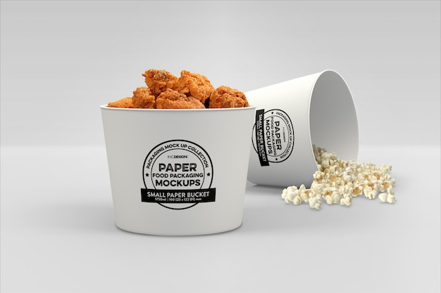 Maquette d'emballage de restauration rapide