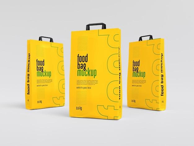 Maquette d'emballage de sac alimentaire