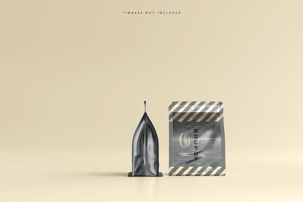 Maquette d'emballage de sac de café de petite taille