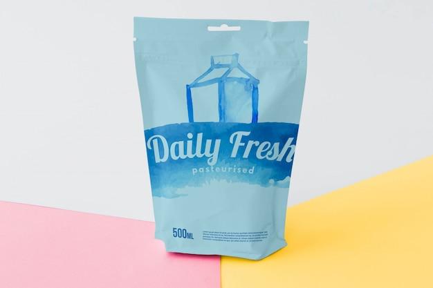 Maquette d'emballage de sac à fermeture éclair