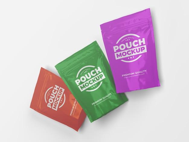 Maquette d'emballage de sac de sachet de collation de poche