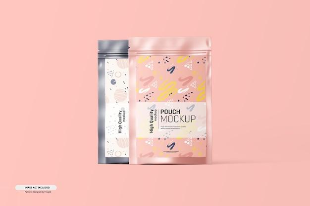 Maquette d'emballage de sachet de complément alimentaire