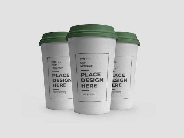 Maquette d'emballage de tasse de boisson au café