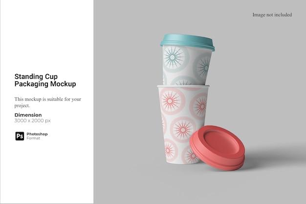 Maquette d'emballage de tasse debout