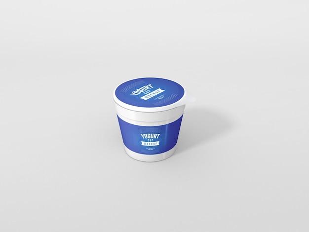Maquette d'emballage de tasse de yaourt