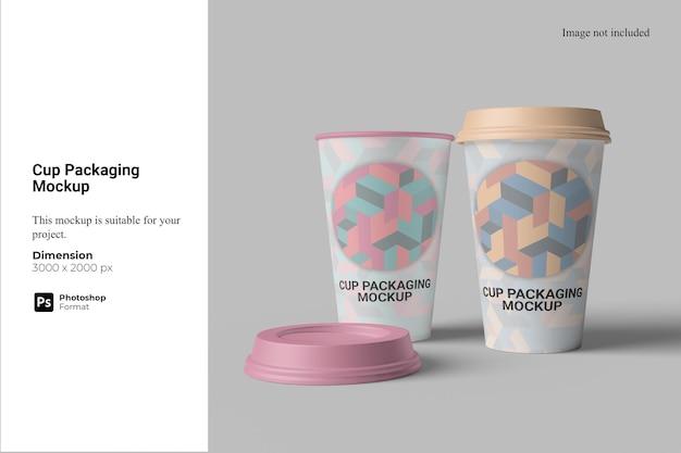 Maquette d'emballage de tasse