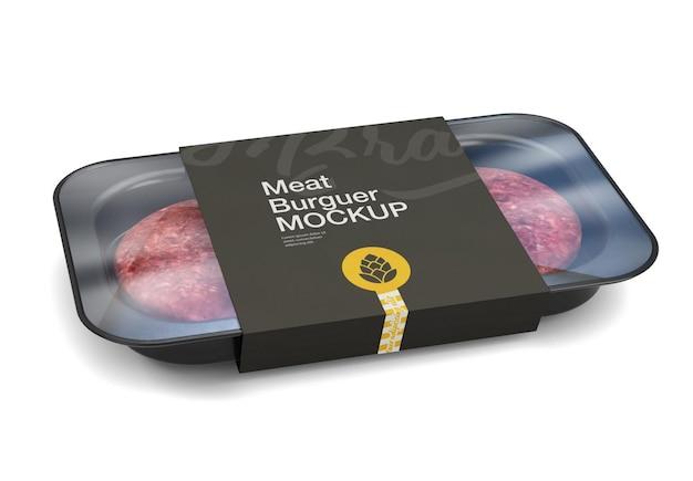 Maquette d'emballage de viande