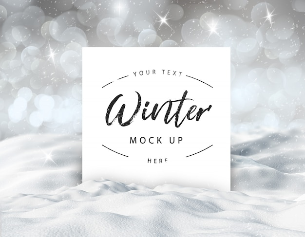 Maquette enneigée d'hiver modifiable