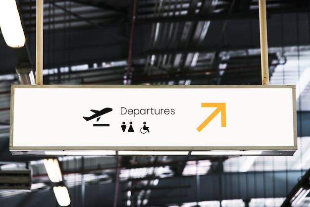 Maquette d'enseigne dans un aéroport