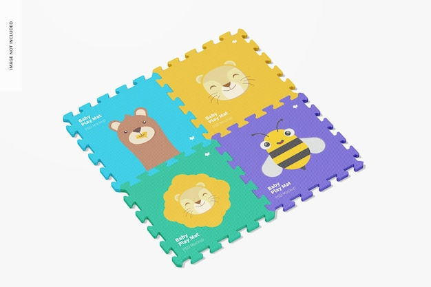 Maquette d'ensemble de tapis de jeu pour bébé