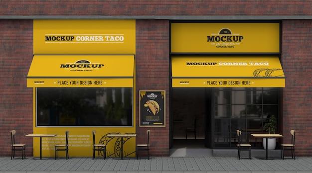 Maquette d'entreprise d'angle pour tacos