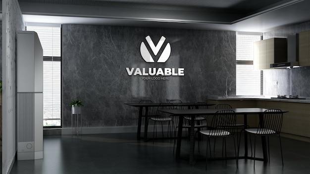 Maquette d'entreprise murale dans le garde-manger du bureau
