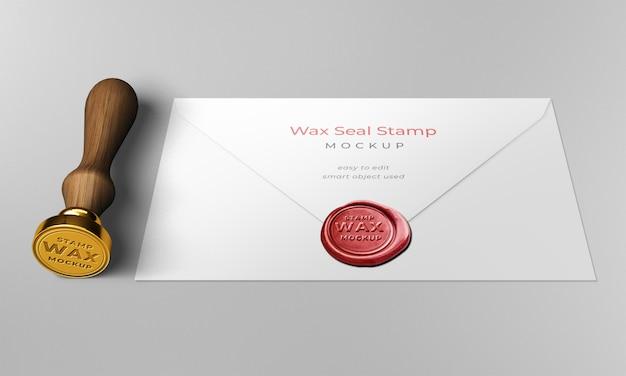 Maquette d'enveloppe de cachet de cire