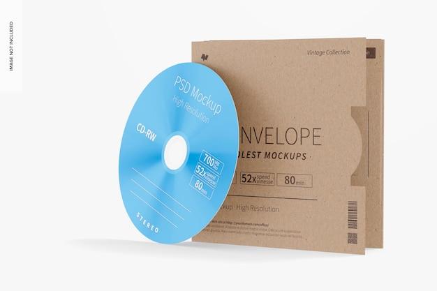 Maquette d'enveloppe de cd, vue de droite