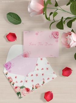 Maquette d'enveloppe d'invitation de mariage