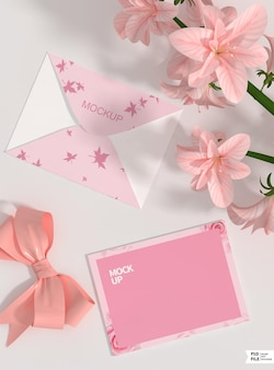 Maquette d'enveloppe d'invitation