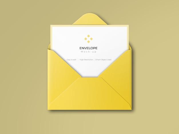 Maquette d'enveloppe ouverte