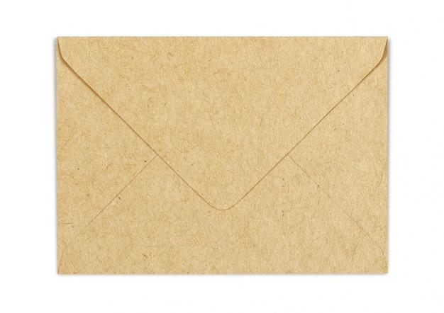Maquette d'enveloppe en papier d'artisanat brun