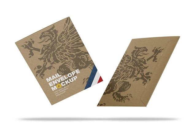 Maquette d'enveloppe en papier kraft