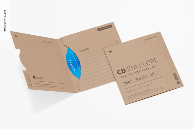 Maquette d'enveloppes de cd