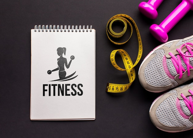 Maquette équipements de cours de fitness