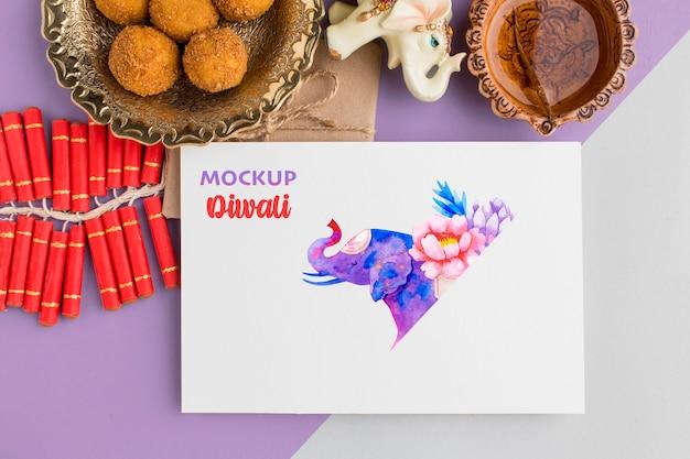 Maquette de l'espace de copie du festival hindou de diwali