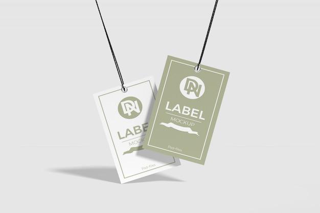 Maquette d'étiquette blanche et verte