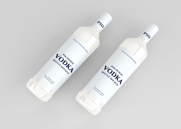 Maquette d'étiquette de bouteille d'alcool de vodka