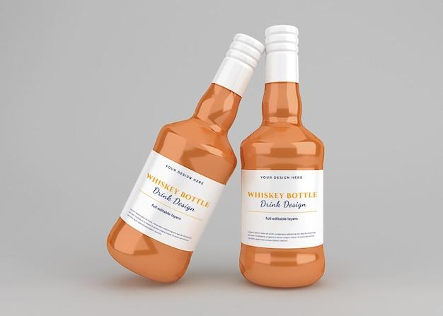 Maquette d'étiquette de bouteille de boisson de whisky