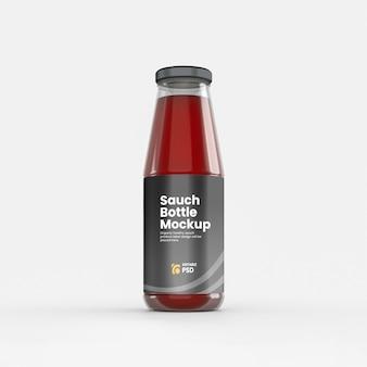 Maquette d'étiquette de bouteille de sauce