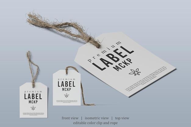 Maquette d'étiquette carrée avec différents points de vue