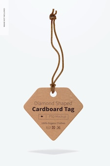 Maquette d'étiquette en carton en forme de diamant