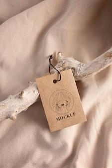Maquette d'étiquette de cintre de vêtement d'artisanat