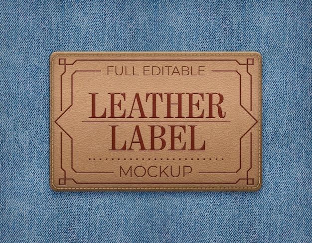 Maquette d'étiquette en cuir