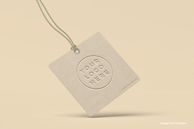 Maquette d'étiquette d'étiquette de marque