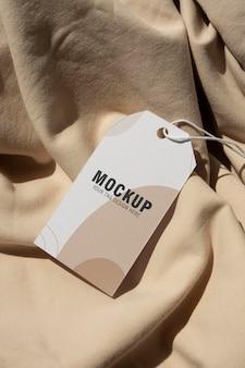 Maquette d'étiquette d'étiquette de vêtement