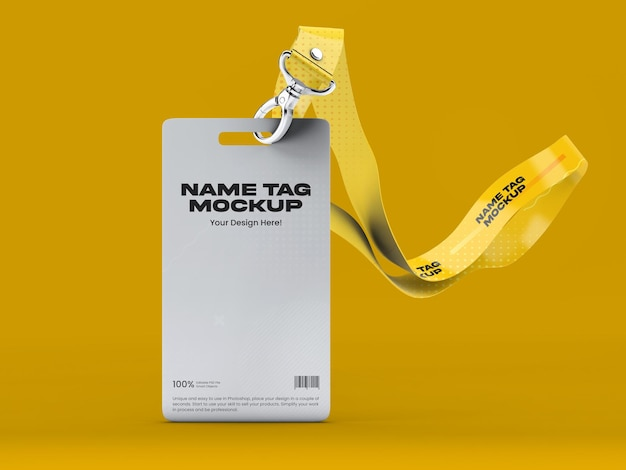 Maquette d'étiquette de nom