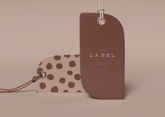 Maquette d'étiquette de prix