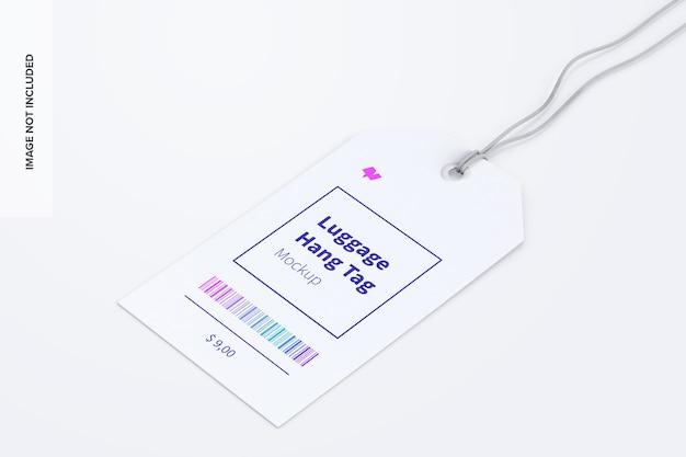Maquette d'étiquette volante pour bagages avec ficelle