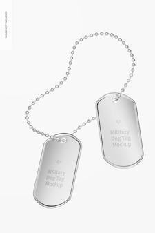 Maquette d'étiquettes militaires pour chiens, flottante