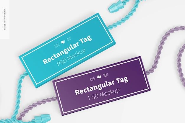 Maquette d'étiquettes textiles rectangulaires