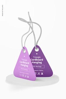 Maquette d'étiquettes volantes en carton triangulaire