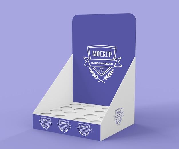 Maquette d'exposant violet créatif