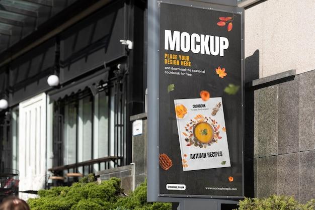 Maquette extérieure de publicité urbaine