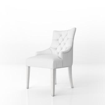 Maquette de fauteuil rembourré blanc