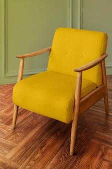 Maquette de fauteuil vintage dans un style moderne du milieu du siècle